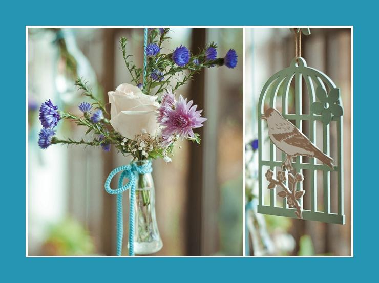 Blumengesteck in flasche Deko Hochzeit Geburtstag