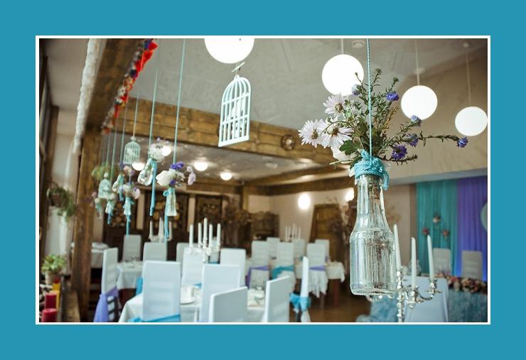 Raumdeko mit Blumen Hochzeit