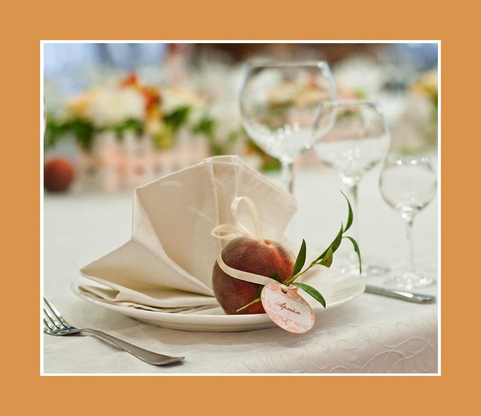 Servietten Geburtstag Hochzeit Dekoration mit Pfirsich